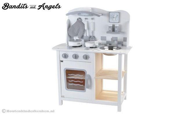 Keuken Accessoires Kinderkeuken : Bandits & Angels Chef Deluxe white Houtenkinderkeuken.nl