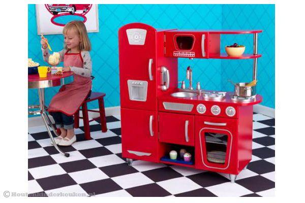 Rode Keuken Accessoires : Kidkraft Rode vintage keuken Houtenkinderkeuken.nl