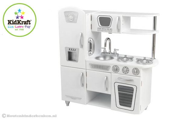 Houten Keuken Kind : Kidkraft witte vintage keuken houtenkinderkeuken