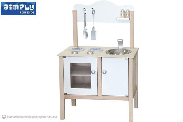 Keuken Kinderen Houten : Simply for kids simply keuken wit houtenkinderkeuken