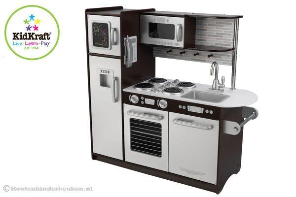 Uptown Witte Keuken : Kidkraft uptown espresso houtenkinderkeuken.nl