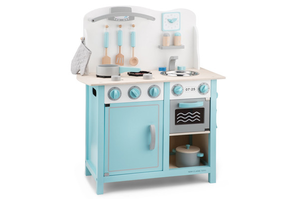 Keuken Kinderen Houten : New classic toys bon appetit deluxe blauw houtenkinderkeuken